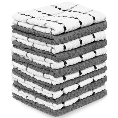 "Royal via Amazon - 12 Pack Kitchen Towels - 100% Soft Cotton - 15"" x 25"" Dobby Weave $12.97"