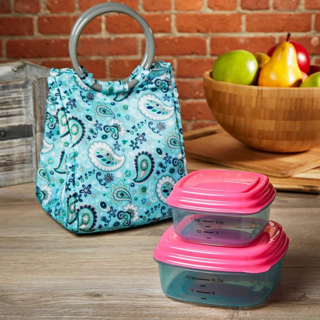 Fit & Fresh - Lauren Kids' Insulated Lunch Bag Set /w Reusable Containers + F/S $7