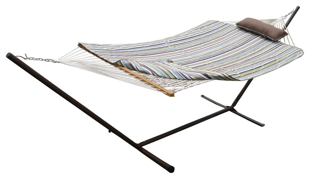 Phat Tommy - $30 Off Outdoor Hammock w/ Stand Set, Pad & Pillow + F/S $109.95