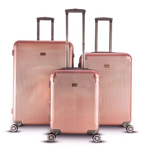 Gabbiano - Genova 3-Piece Hardside Luggage Set (Rose Gold) $242.10  + Free S/H