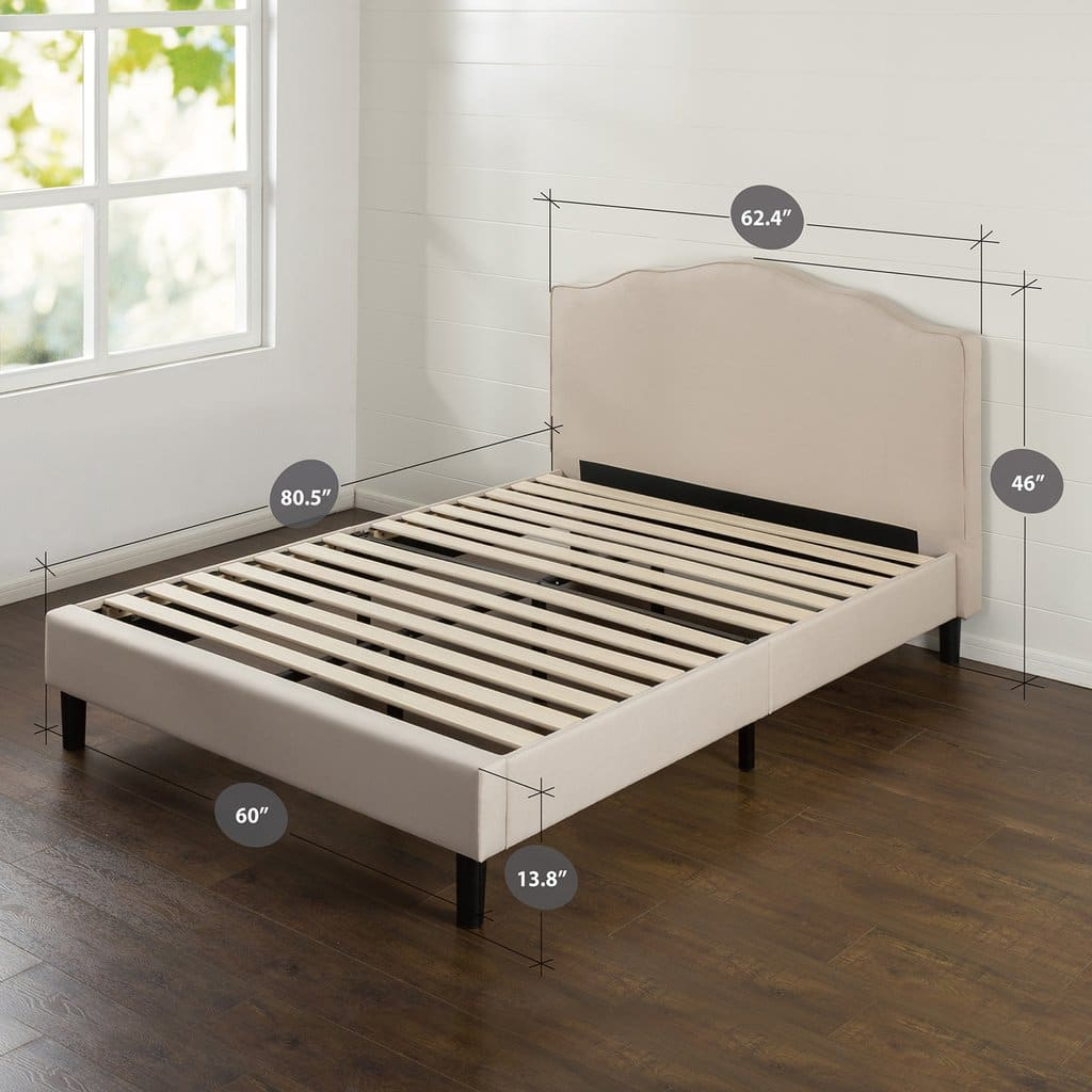 Zinus - Extra 30% Off: Paris Upholstered Scalloped Platform Bed: Queen $162.50, Full $150.50 + Free S/H