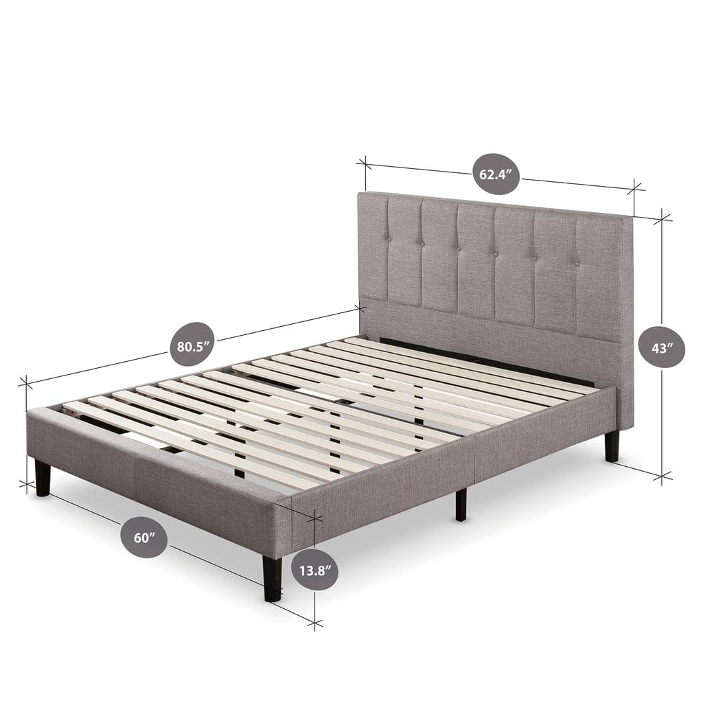 Zinus - Extra 20% Off Upholstered Vertical Detailed Platform Bed: Full $170, Queen $190 + Free Shipping