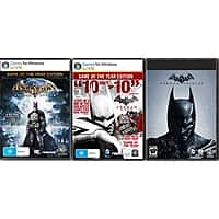 Newegg Deal: Batman Triple Pack  $13.99 @ Newegg (PC digital download)