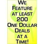 100's of Deals for only $1 at DollarFanatic.com, Save $5 Off on purchase of $40 or more & Free Shipping
