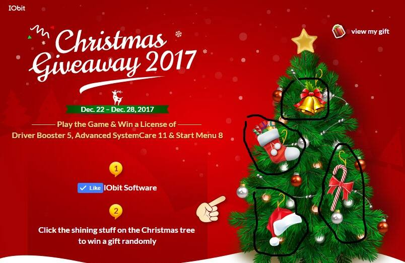 IOBIT - Win Free 6 month License - Advanced System Care 11, Driver Booster 5, Start Menu 8 - Ends Dec. 28, 2017