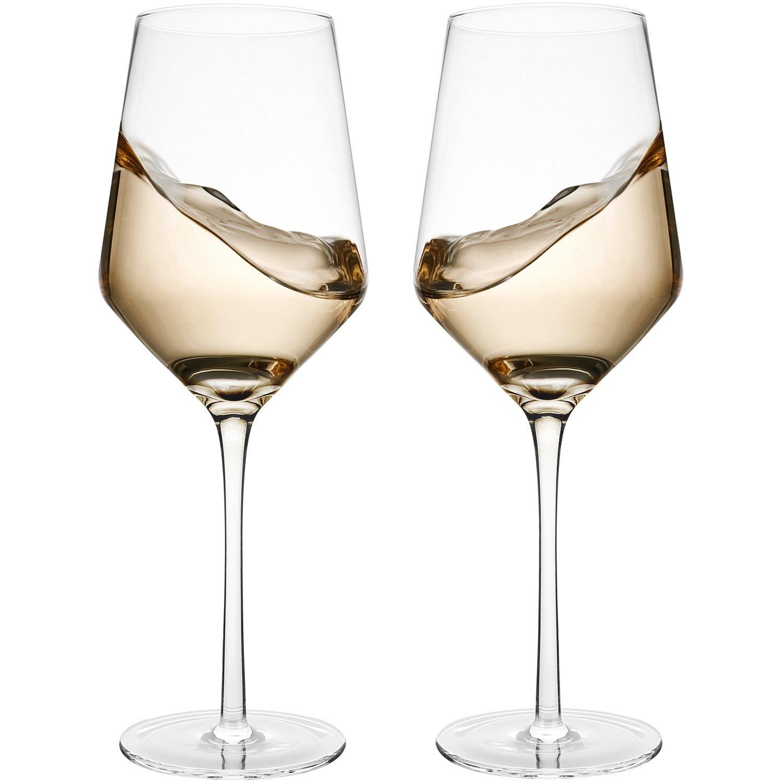 60% off -Set of 2 Crystal Wine Glasses by Bella Vino $7.98