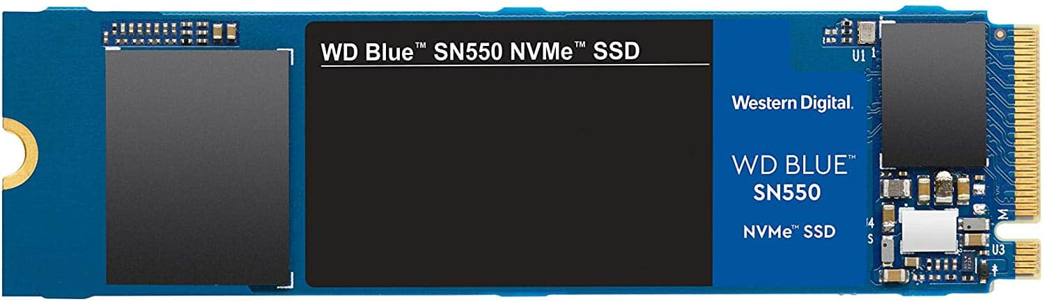1TB WD Blue SN550 NVMe 3D NAND M.2 2280 Solid State Drive