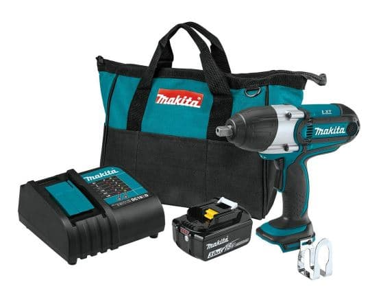 (YMMV) Makita XWT04S1 - 18-Volt LXT Lithium-Ion Cordless 1/2 in. Sq. Drive Impact Wrench Kit, (3.0Ah) $99
