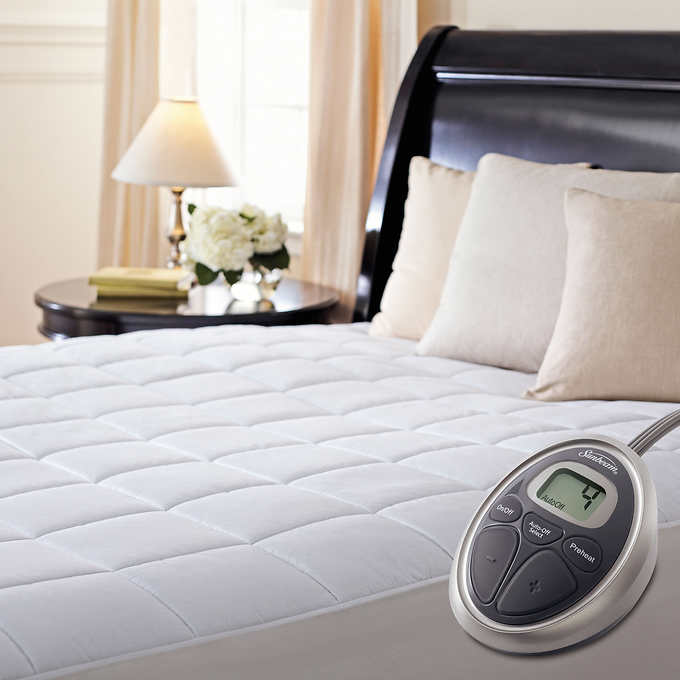 Sunbeam Premium Quilted Heated Mattress Pad - Queen - $75 with code SLEEP25