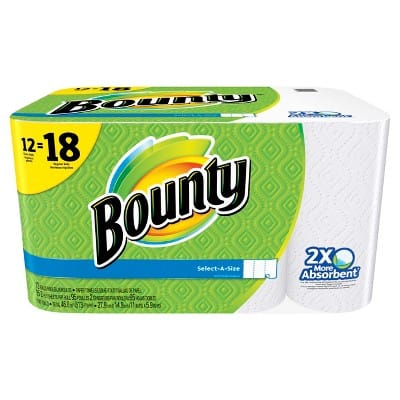 Target, 3 x 8 Giant Rolls Bounty Select-A-Size Paper Towels, White for $29.37. Plus get $10 Target gift card.
