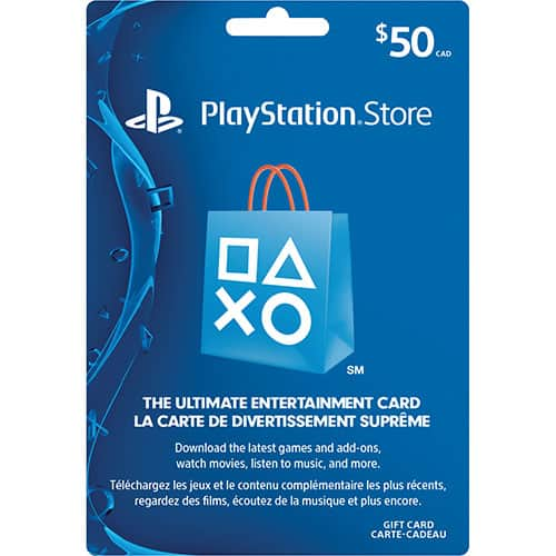 10% off PSN credits on $10-50 cards, $9