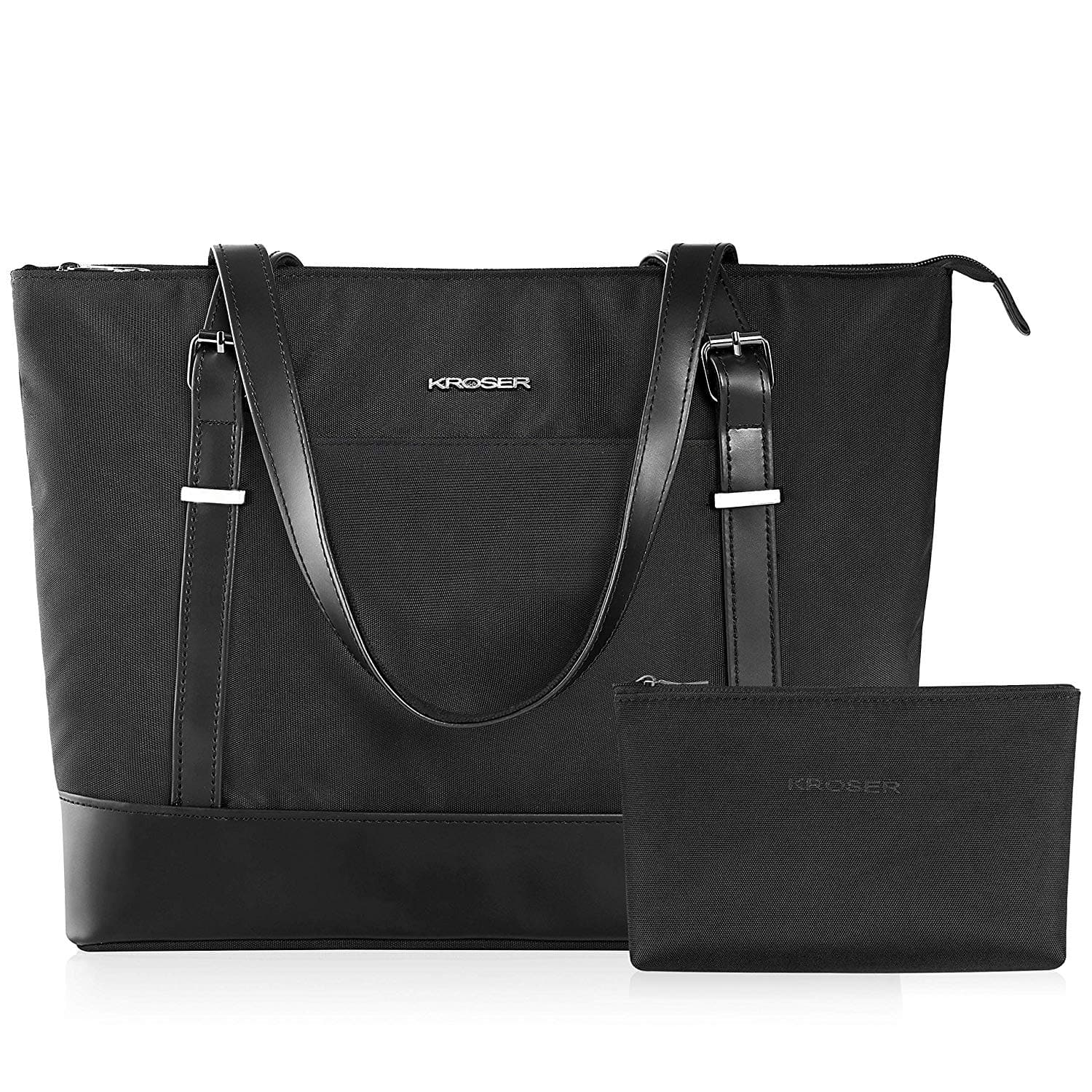 15.6 Inch Laptop Water-Repellent Nylon Handbag,  $17.54