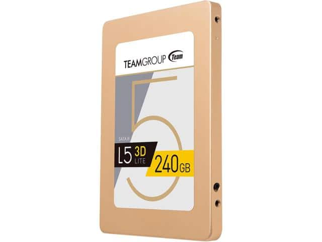 "Team Group L5 LITE 3D 2.5"" 240GB SATA III 3D NAND SSD, Newegg, $64.99"