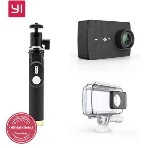 YI 4K+ Action Camera (Black) + Waterproof Case + Monopod + Bluetooth Remote Controller $259.99