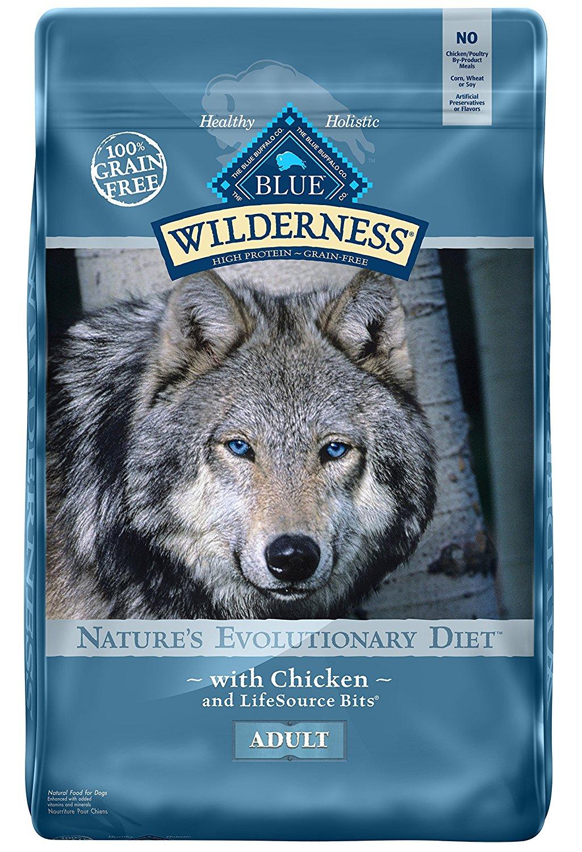 BLUE Wilderness High Protein Grain Free Adult Dry Dog Food 24 LB (Chicken) $39.99