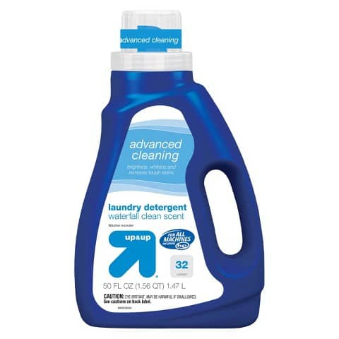 Up & Up Advanced Cleaning Liquid Laundry Detergent Waterfall Clean 50oz $2.74 with Free Shipping