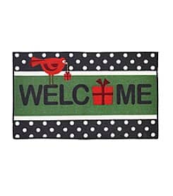 "Essential Elements Christmas Themed 17"" x 28"" Accent Rugs $4 with Free Shipping"