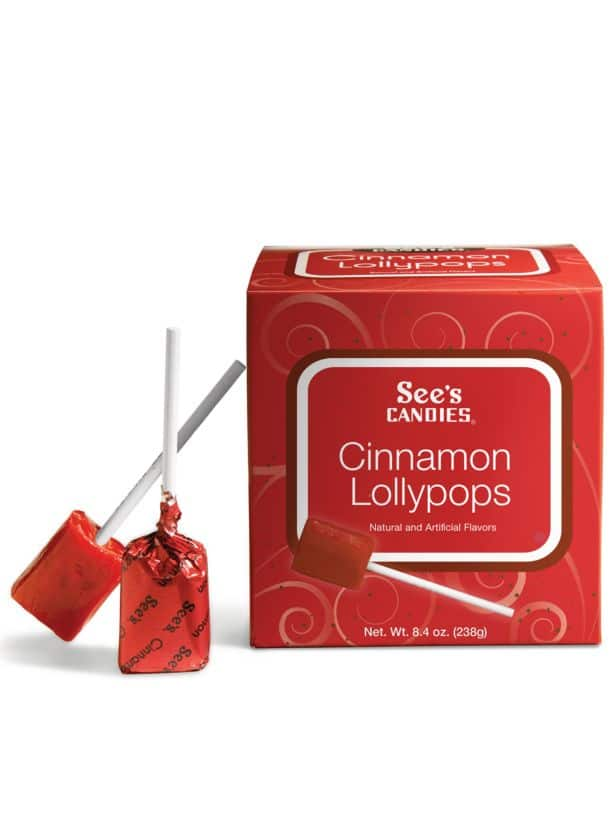 See's Candies Cinnamon Lollypops 8.4 oz $4 Free Shipping w/ Shoprunner