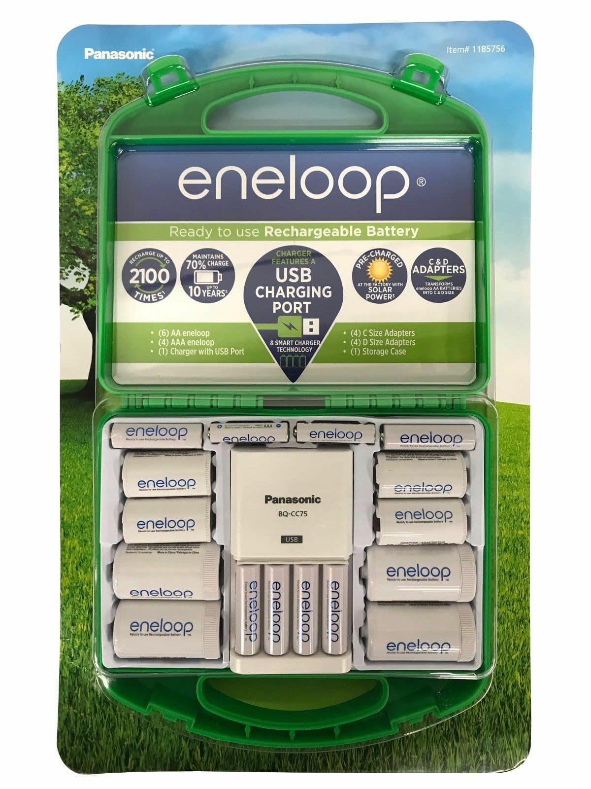 Eneloop Starter Pack: 6 - AA, 4 - AAA, Charger, C & D Size