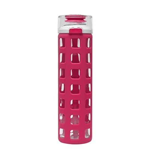 Ello Syndicate BPA-Free Glass Water Bottle with Flip Lid, 20-Ounce [Pink] $6.72