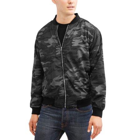 Men's Camo Nylon Bomber Jacket Unlined, Up to 3XL $10.00