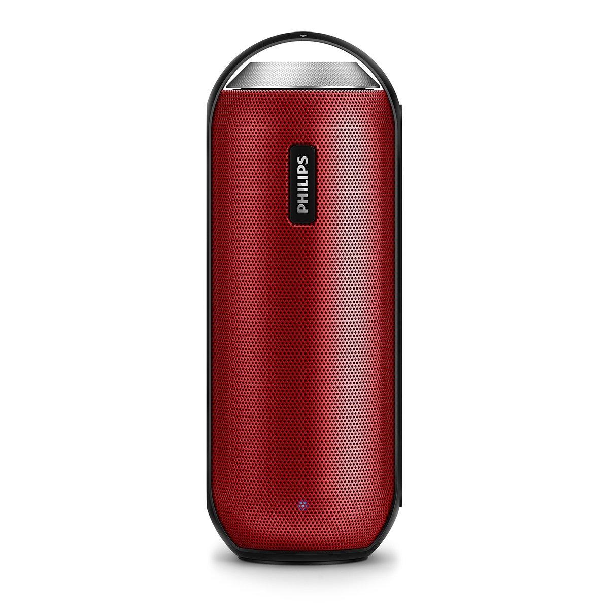 Philips BT6000R/37 Splash-Proof Wireless Portable Speaker (Red) $39.99