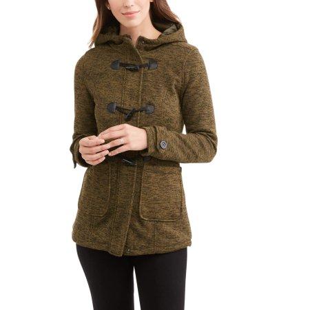 Women's Soft & Cozy Hooded Fleece Peacoat $12.00