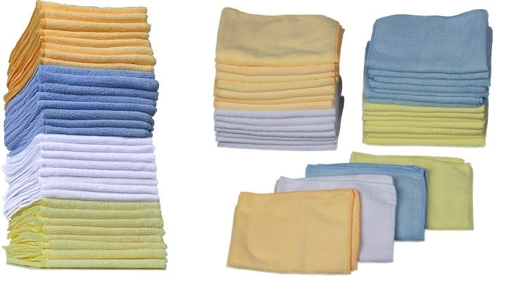 [32-Pack] Microfiber Cleaning Cloths – Rinse & Reuse Hundreds of Times $11.97