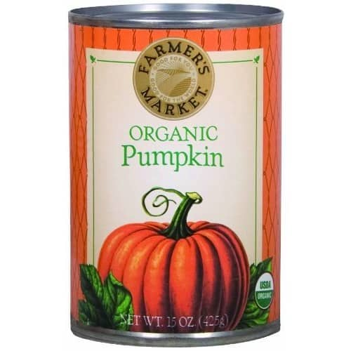 Farmers Market Organic Pumpkin, 15 Ounce (Pack of 12) $14.24