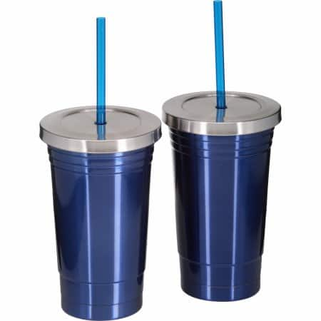 Mainstays Double-Wall Stainless Steel Chiller, Blue, 16 oz $5.82