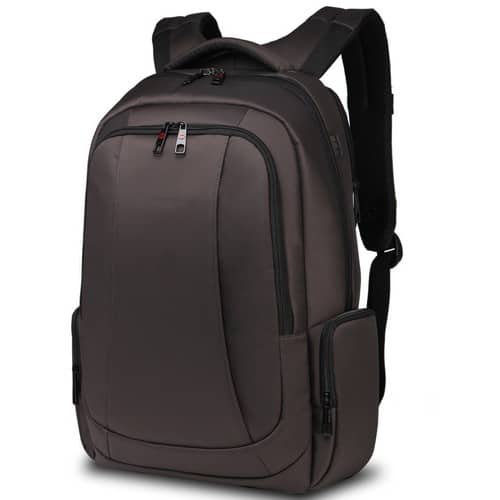 Uoobag KT-01 Slim Laptop Backpack Water-resistant Anti-theft Bag 15.6 Inch (Coffee) $28.46