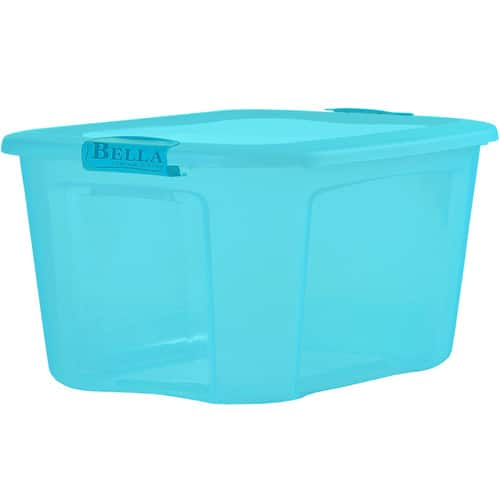 Bella Storage Solution Bella Storage Solution 18-Gallon Blue Tote with Latching Lid $6.98