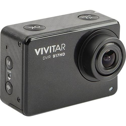 Vivitar - 4K Action Camera with Remote - Black $49.99