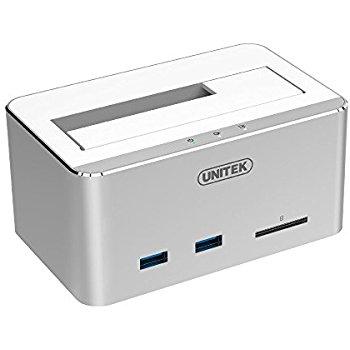 UNITEK Aluminum USB 3.0 to SATA Hard Drive Docking Station $15.49