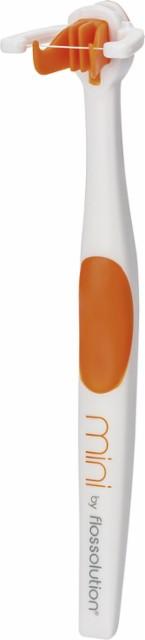 Flossolution - Mini Toothbrush - Orange/White $4.99
