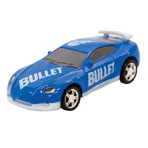 Add-on Item: As Seen on TV RC Pocket Racers Remote Controlled Micro Race Cars Vehicle, Bullet Blue $2.76