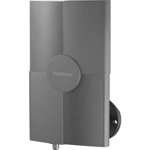 Insignia™ - Outdoor Amplified TV Antenna - Gray $29.99