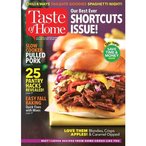 Taste of Home Print Magazine $0.99