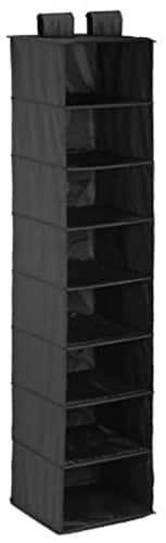 Honey Can Do 8-Shelf Polyester Hanging Organizer, Black $8.04