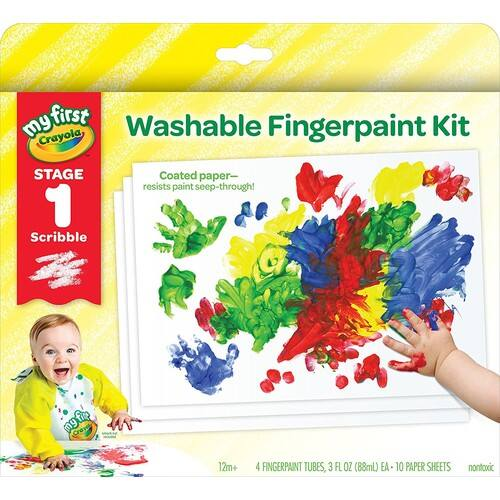 Crayola My First Fingerpaint Kit Finger Paints $11.89