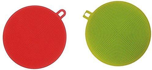 Silicone Dishwashing Sponge, 2 Pack Washing Brush Scrubber $1.80