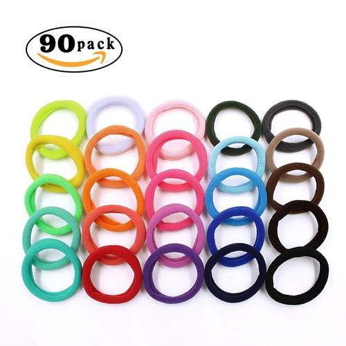 Hippih 90pcs Girls No-damage Elastic HairBand Rope$4.79