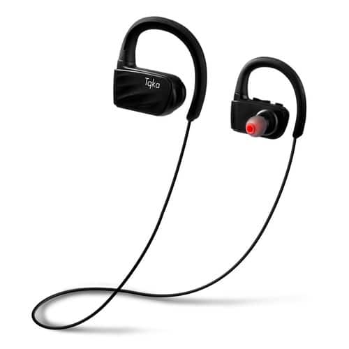 Tqka IP67 Wireless Sports Earphones for Gym, Running, Workout    $13.79