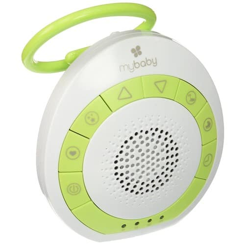 myBaby Soundspa On‐the‐Go, Plays 4 Soothing Sounds, Adjustable Volume Control, Adjustable Clip for Strollers, Diaper Bags, Car Seats, Small and Lightweight, Auto Timer $8.67
