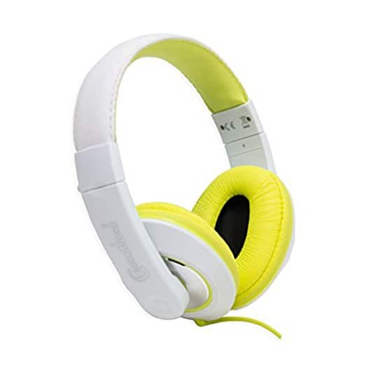 Connectland Circumaural Stereo Wired Headphone Microphone Lightweight Adjustable Headband Yellow CL-AUD63033: Home Audio & Theater [Yellow] $6.85