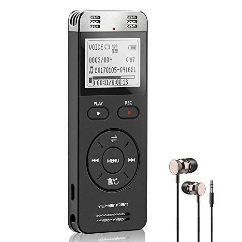 Digital Voice Activated Recorder, Yemenren 8GB Sound Audio Recorder Dictaphone for Lectures Meetings, USB, Rechargeable  $20.16