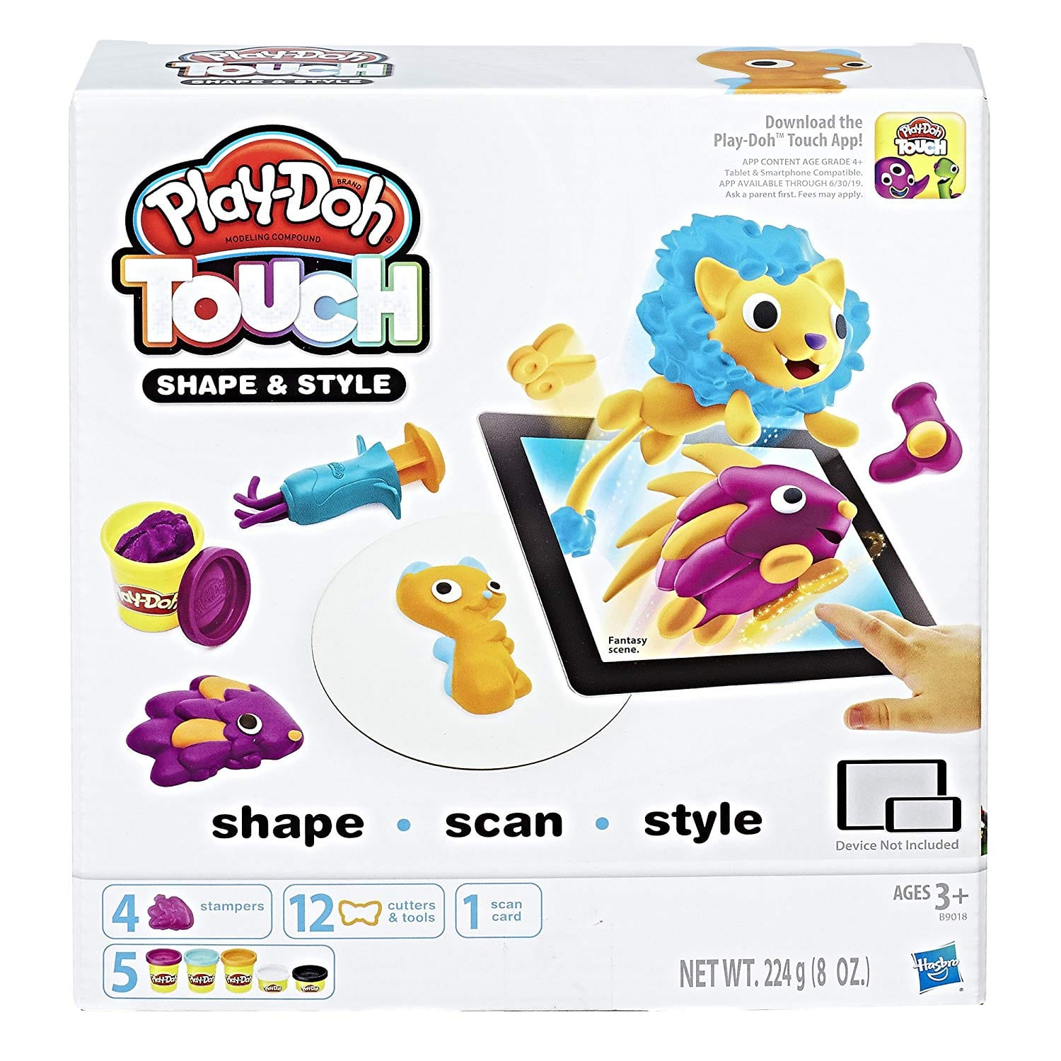Play-Doh Touch Shape and Style Set $5.99