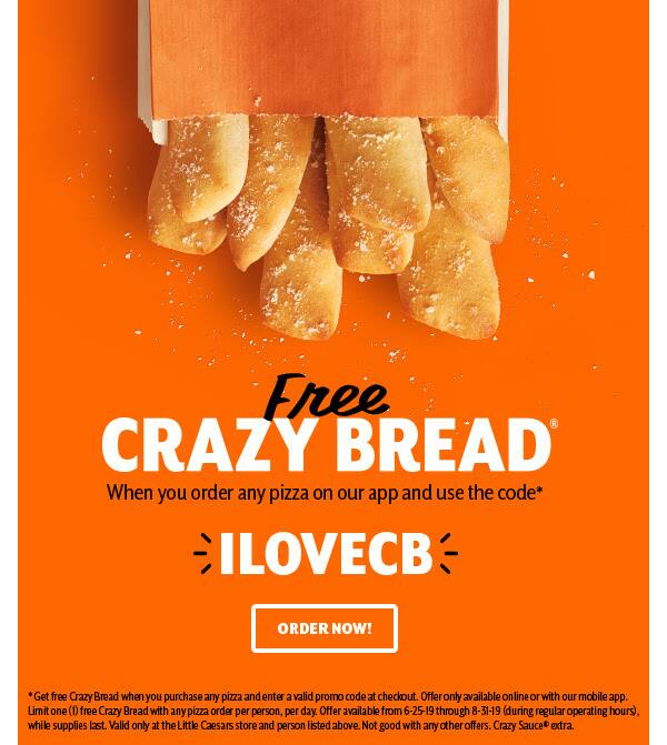 FREE Crazy Bread!