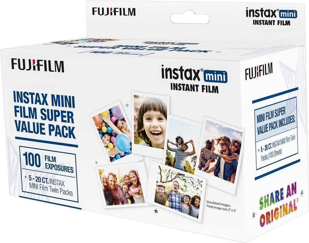 FujiFilm Instax Mini Film 100x count - $55.99 via best buy & ebay