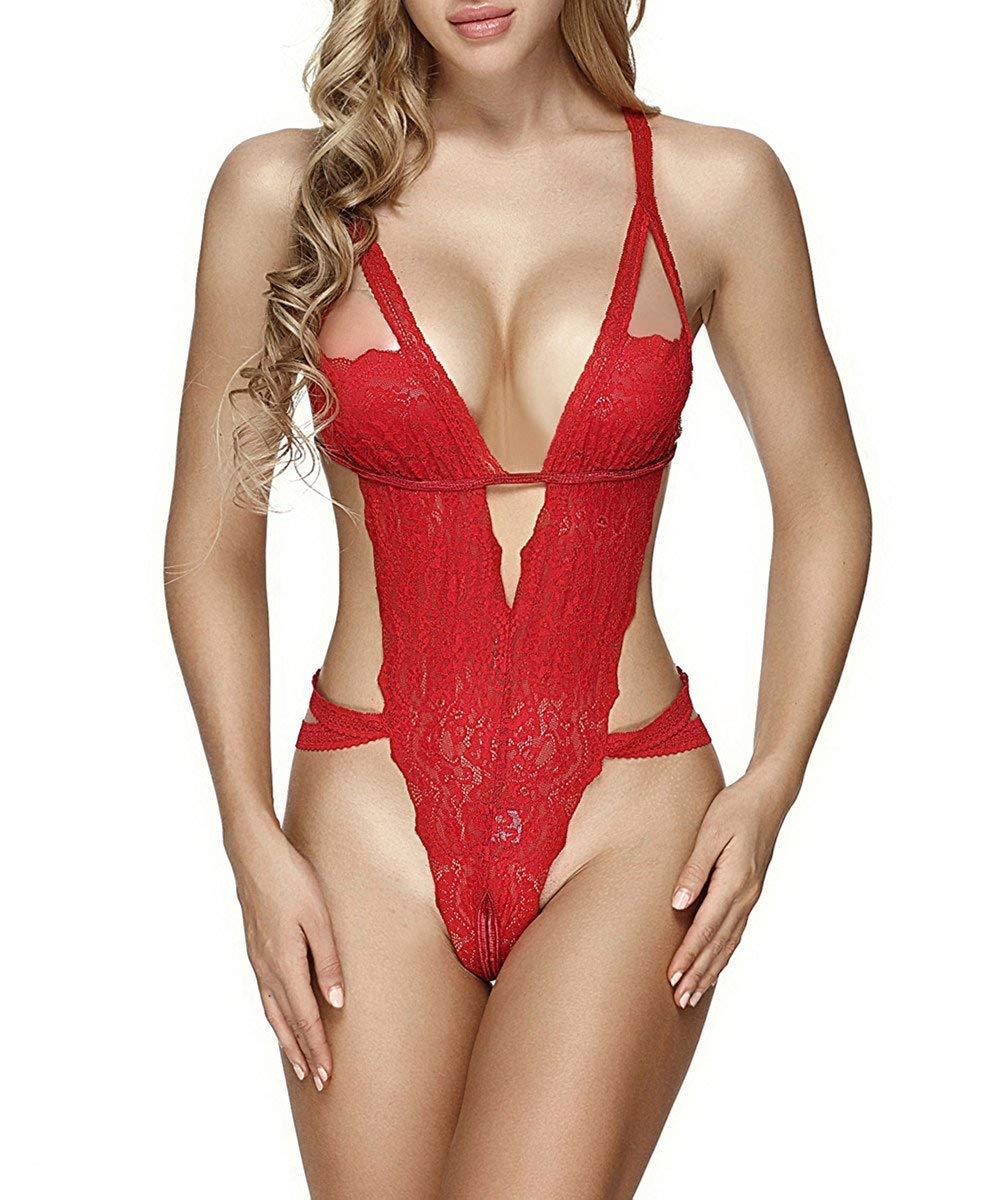 Ruzishun Sexy Lace Teddy Lingerie for Women $7.16 +FS